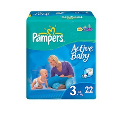 Pampers Active Baby Nr.3 (4-9kg) x 22 buc