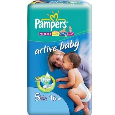 Pampers Active Baby Nr.5 (11-25kg) x 16 buc