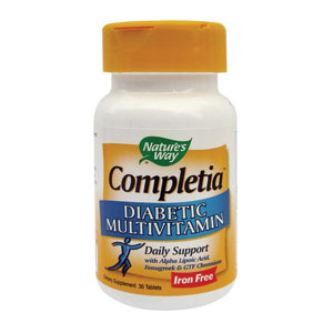 Completia Diabetic (fara fier) 30tb Natures Way