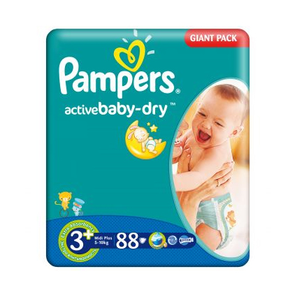 Pampers Active Baby 3+ (5-10 kg)