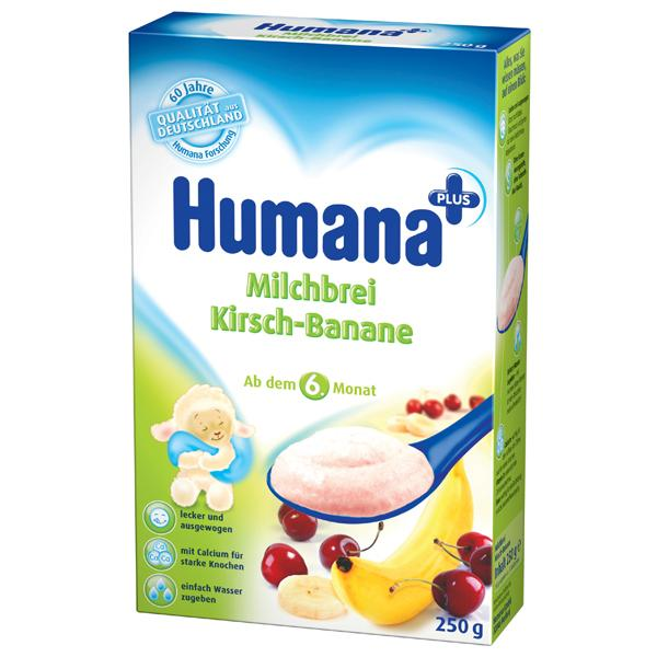Humana Cereale Lapte banane si cirese - 6 luni 250gr