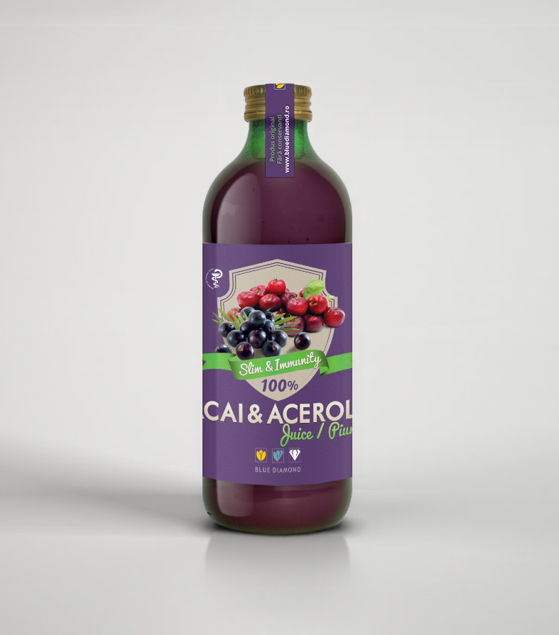 Açaí & acerola juice 100% puree – 500 ml