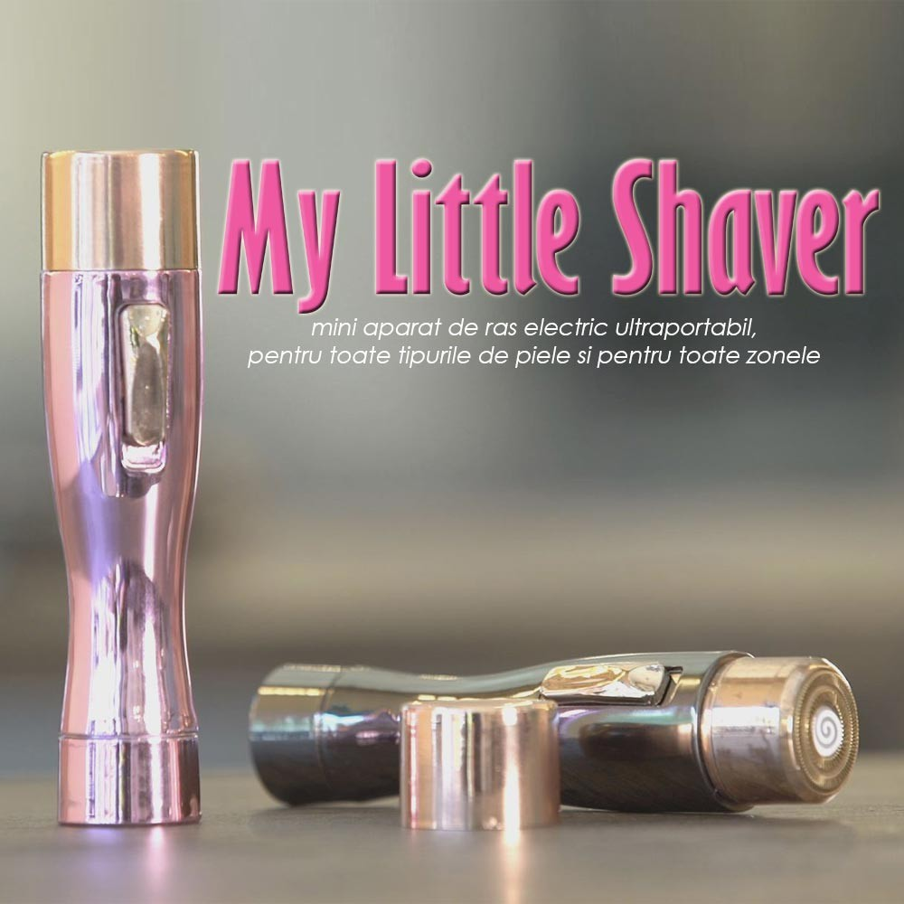 My Little Shaver - mini parat de ras electric (negru/roz)