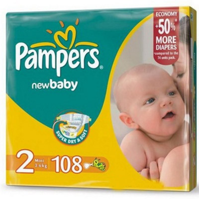 Pampers New Baby Nr.2 (3-6kg) x 108 buc
