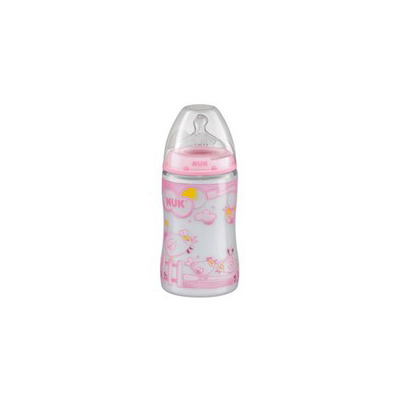 NUK First Choice Biberon sticla 240 ml +Tetina latex orificiu mediu