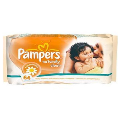 Pampers - Servetele Naturally Clean