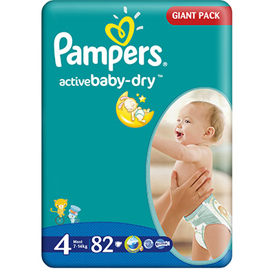 Pampers Active Baby Nr. 4 (7-18kg) x 82 buc