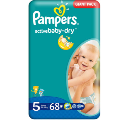 Pampers Active Baby Nr.5 (11-25kg) x 68 buc