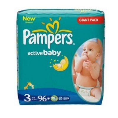 Pampers Active Baby Nr.3 (4-9kg) x 96 buc