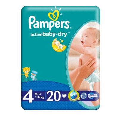 Pampers Active Baby Nr. 4 (7-18kg) x 20 buc