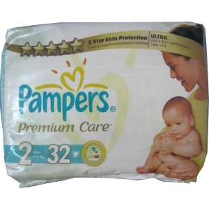 Pampers Premium Care Nr. 2 (3 - 6 kg) x 32 buc